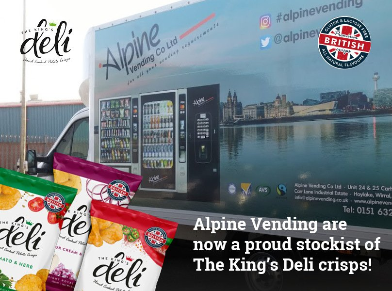 Proud to be partnered with Alpine Vending