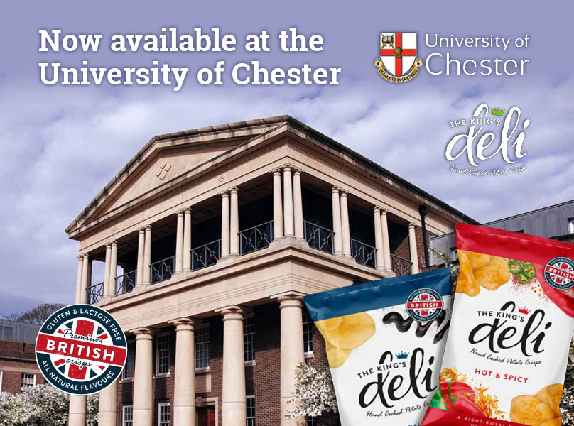 TKD Crisps Available at University of Chester